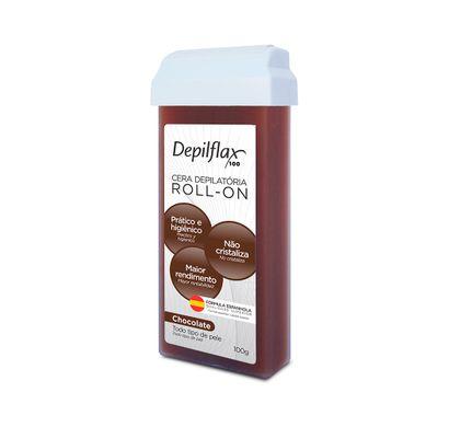 Cera Depilatória Roll-on Chocolate 100g - Depilflax