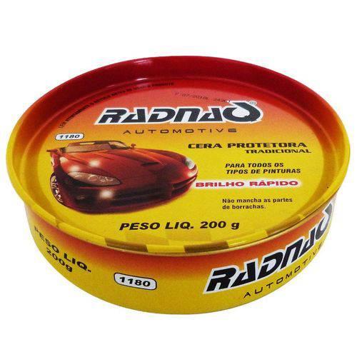 Cera Protetora Pintura Carnauba Radnaq Alto Brilho 200g
