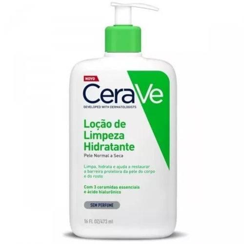 Cerave Loção de Limpeza Hidratante Sem Perfume 473ml