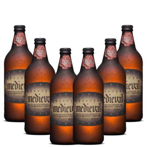 Cerveja Artesanal Backer Medieval Blond Ale 600ml 6 Unidades