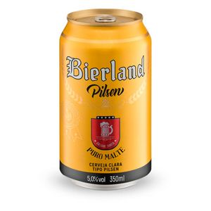 Cerveja Bierland Pilsen Lata 350ml + 9 KM