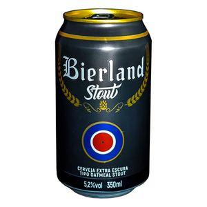 Cerveja Bierland Stout Lata 350ml