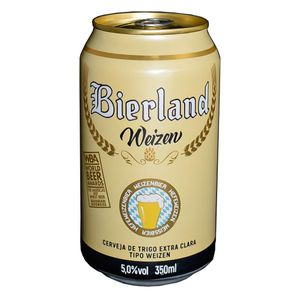 Cerveja Bierland Weizen Lata 350ml + 8 KM