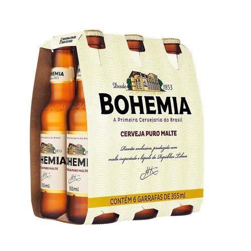 Cerveja Bohemia Puro Malte 355ml Pack (6 Unidades)