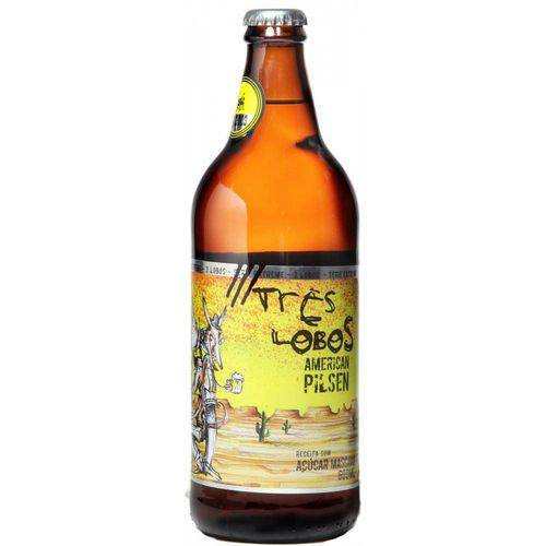 Cerveja 3 Lobos American Pilsen 600 Ml