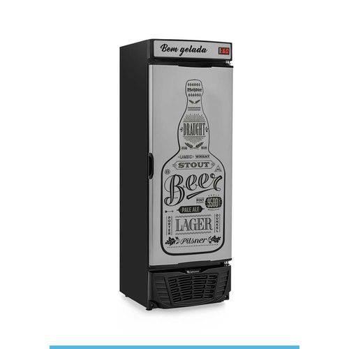 Cervejeira 450l - Porta Cega Revestida em Aço Tipo Inox C/ Adesivo - Grba-450 Gw - Gelopar
