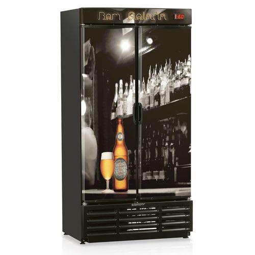 Cervejeira 2 Portas Adesivada GRBA760B Gelopar Cervejeira 760 Litros 2 Portas Adesivadas 110v