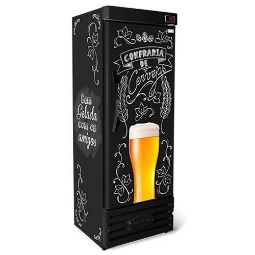 Cervejeira Refrigerada Slim Vertical Lousa Bar Crv-400/b Conservex