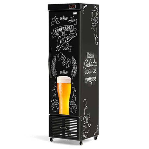 Cervejeira Refrigerada Slim Vertical Lousa Bar Crv-250/b Conservex
