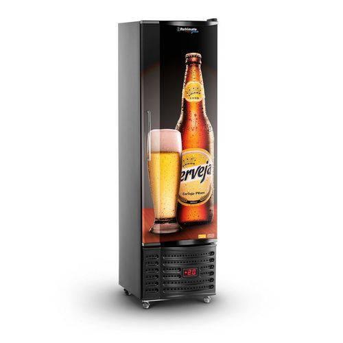 Cervejeira Vertical Slim 230 Litros 75 Garrafas Porta Sólida Refrimate VCSHB230S 220V