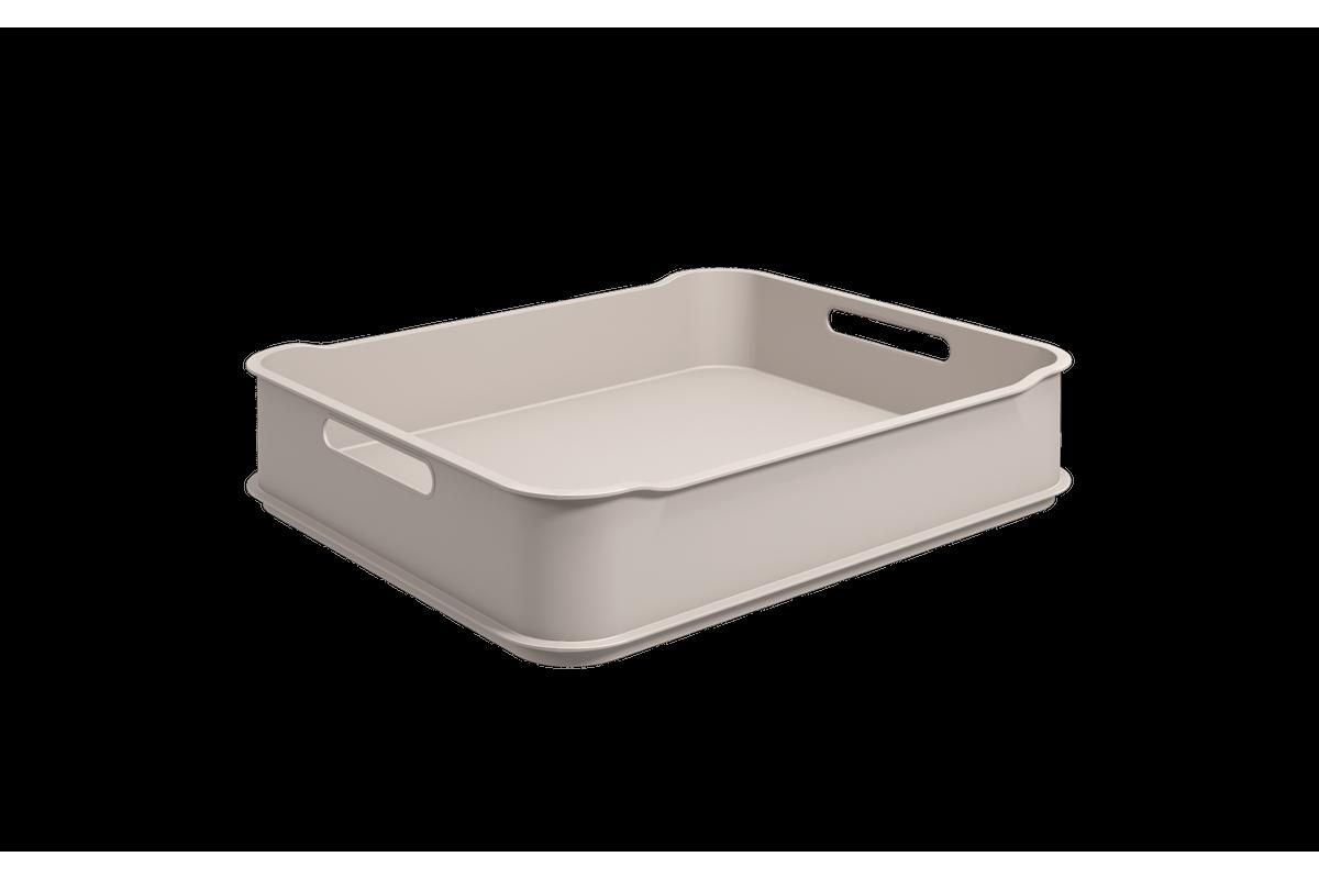 Cesta Fit Maxi - LGR 38 X 31,6 X 8 Cm Light Gray Coza