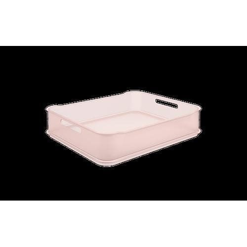 Cesta Fit Maxi - RBT 38 X 31,6 X 8 Cm Rosa Blush Translúcido Coza