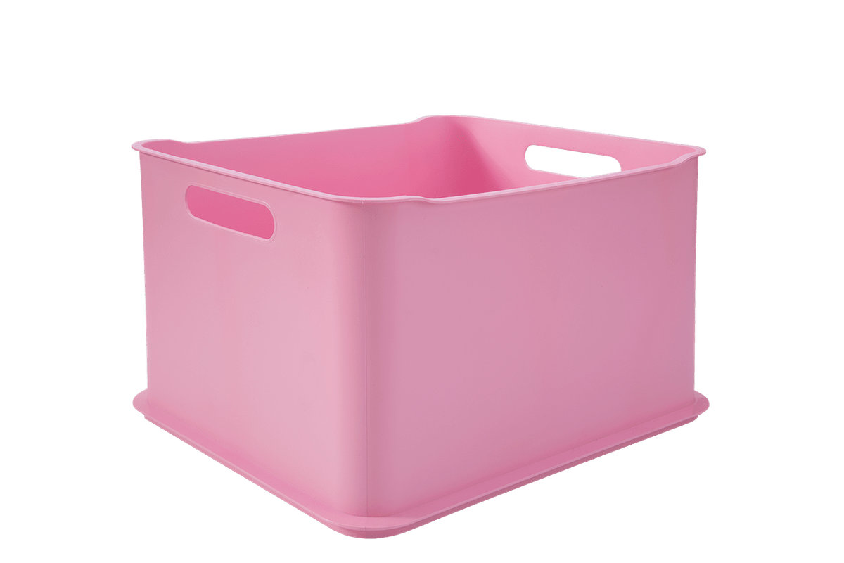 Cesta Fit Ultra Baby 38 X 32 X 23 Cm Rosa Baby Coza