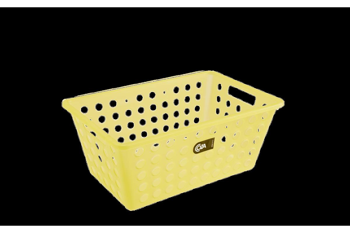 Cesta Grande 28,8 X 19,1 X 12,3 Cm Amarelo Coza