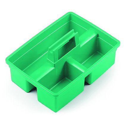 Cesta Multiuso Grande Verde com Três Divisões 40X29X18cm TTS