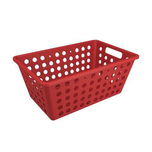 Cesta One Grande 28,8 X 19,1 X 12,3 Cm Vermelho Bold - Coza