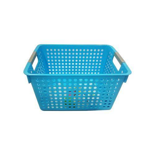 Cesta Organizadora Média 31X21X17Cm Basic Kitchen Azul