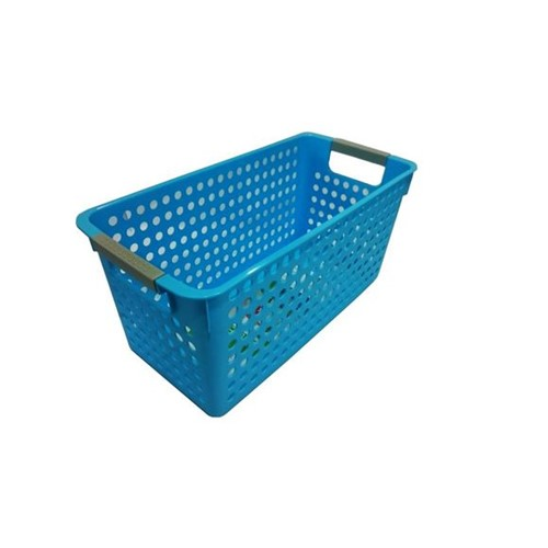 Cesta Organizadora Média 34X17X16Cm Basic Kitchen Azul