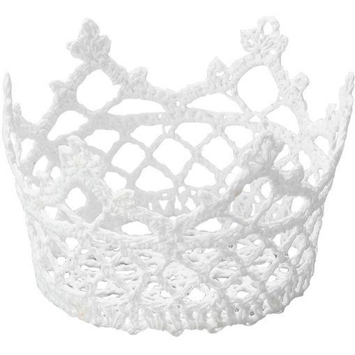 Cesta Redonda de Plástico Branca Crown 6349 Lyor