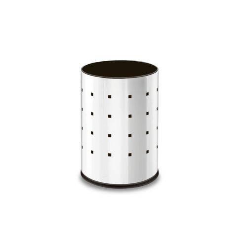 Cesto Inox Alpha 9,4 Litros - Decorline Lixeiras Ø 20 X 29 Cm