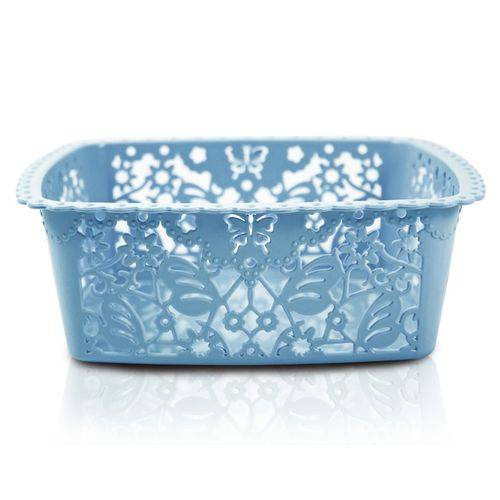 Cesto Organizador Azul (p) Coleção Lifestyle Jacki Design
