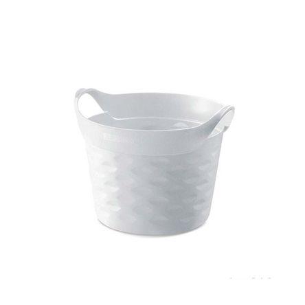 Cesto Organizador Circular 20L Plástico Branco Sanremo