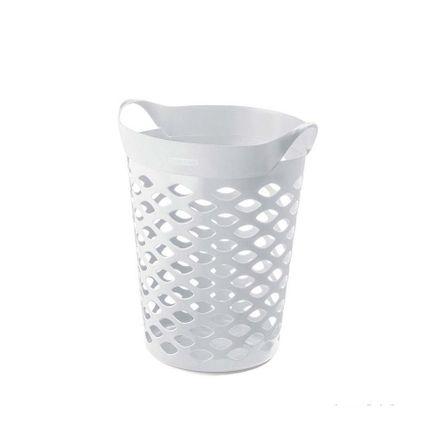 Cesto Organizador Circular 44L Plástico Branco Sanremo