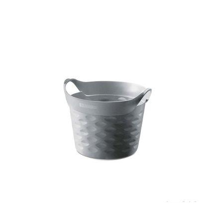 Cesto Organizador Circular 3L Plástico Chumbo Sanremo