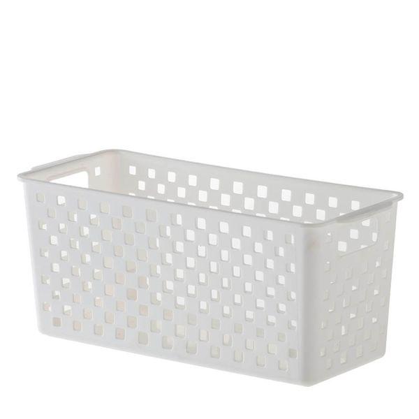 Cesto Organizador Quadratta Branco 27X12X12CM - 33434