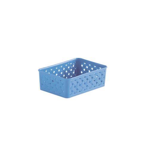 Cesto Organizador Rattan 19x13x6,5cm - Azul