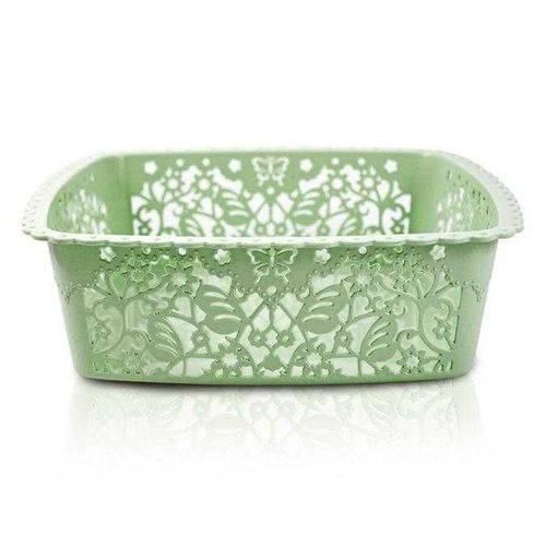 Cesto Organizador Verde (m) Coleção Lifestyle Jacki Design