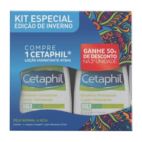 Cetaphil Loção Hidratante 2 Unidades 473ml Cada Ganhe 50% de Desconto na 2ª Unidade