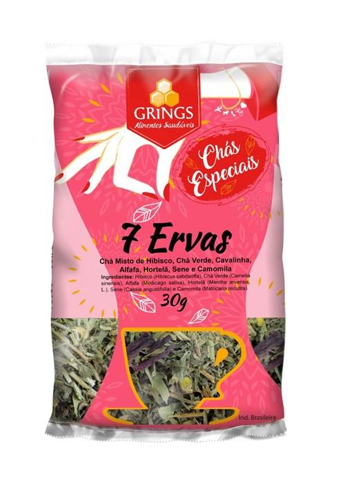 Cha 7 Ervas 30g - Grings