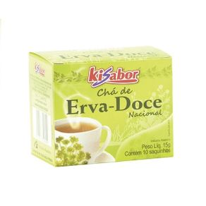Chá de Erva Doce Kisabor 15g Contém 10 Saches