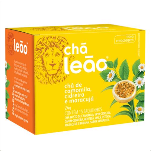 Chá Leão Camomila com Cidreira & Maracujá 15 Sachês