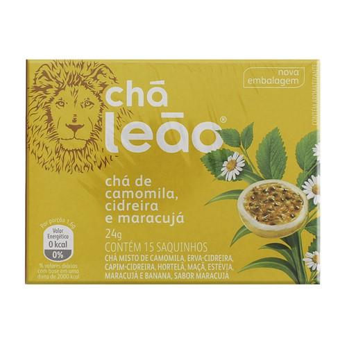 Chá Leão de Camomila, Cidreira e Maracujá com 15 Sachês