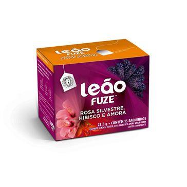 Chá Leão Fuze Rosa Silvestre Hibisco e Amora com 15 Saches 24g