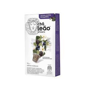 Chá Leão Sabor Amora, Mirtilo e Baunilha 30g com 10 Unidades