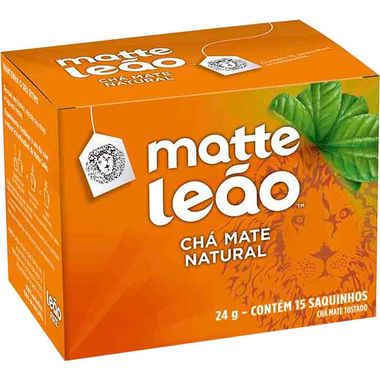Chá Mate Natural Leão 24g Cx. C/ 36 Un.