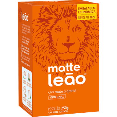 Chá Mate Natural Leão 250g Cx. C/ 30 Un.