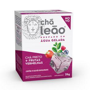 Chá Preto com Frutas Vermelhas Chá Leão 10 Unidades de 25g