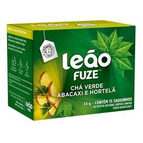 Chá Verde Abacaxi e Hortelã Leão 24g com 15 Unidades