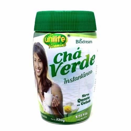 Chá Verde Instantâneo Solúvel 220g Unilife Sabor Limão