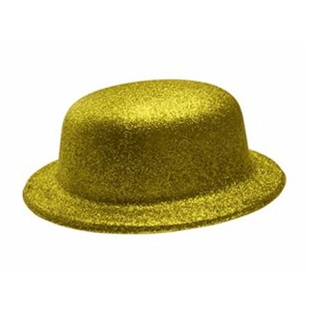 Chapéu Coquinho com Glitter Dourado Chapéu Plástico Coquinho com Glitter Dourado - Unidade
