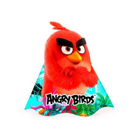 Chapéu de Aniversário Angry Birds - 08 Unidades