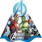 Chapéu de Aniversário Avengers Animated com 8 Unidades - Regina Festas