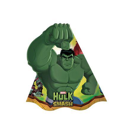 Chapéu de Aniversário Hulk - 08 Unidades