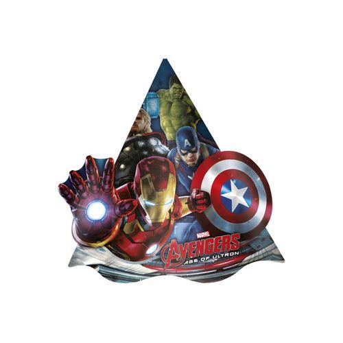 Chapéu de Aniversário Marvel Vingadores Regina - 08 Unidades 71098