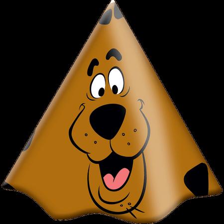 Chapéu de Aniversário Scooby Doo - 08 Unidades