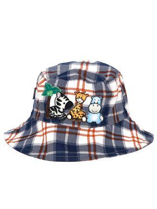 Chapéu Infantil para Bebê Menino - Azul/laranja